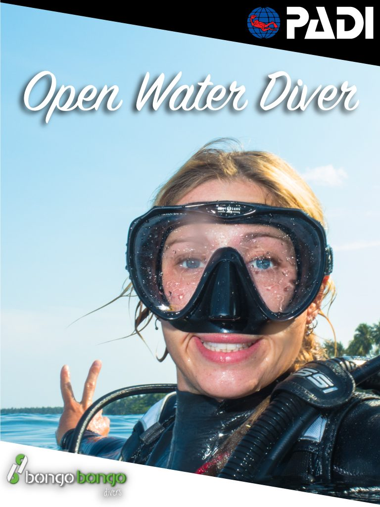 PADI Open Water learning to dive in Philippines